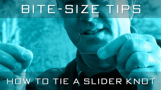 How To Tie A Slider Knot With Alan Scotthorne