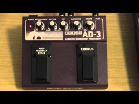 Boss AD-3 acoustic instrument processor review and user guide