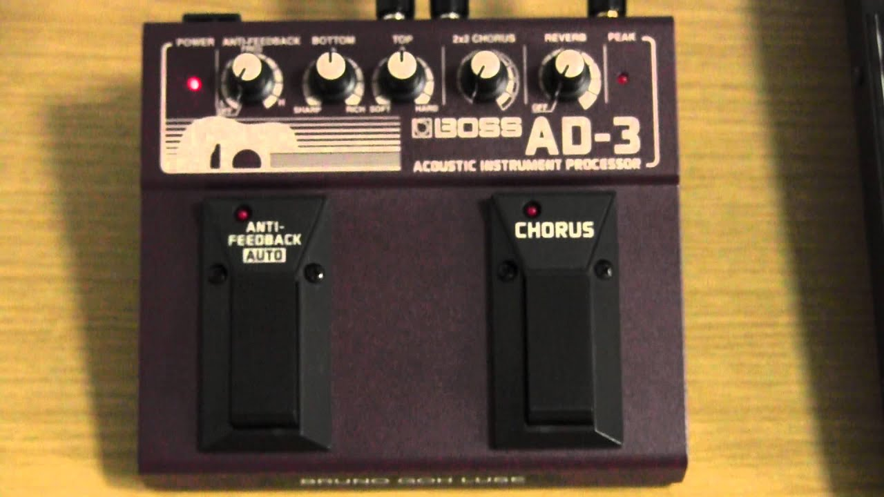 boss ad 3 acoustic instrument processor review and user guide