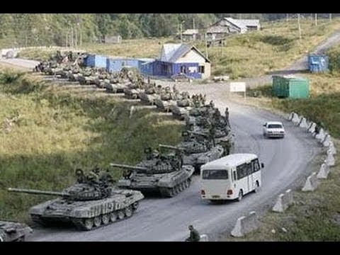 HUNDREDS OF RUSSIAN TANKS heading towards UKRAINE