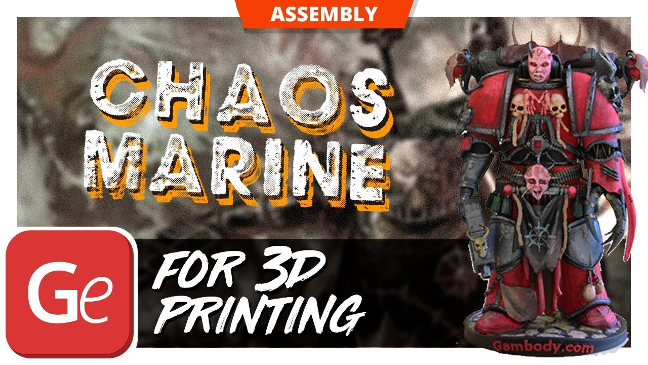 Chaos Space Marines 3D Printing Figure - How to Assemble | Gambody