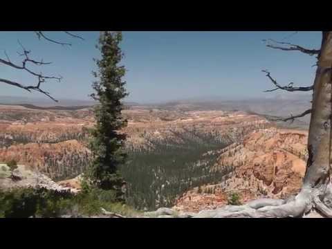 Utah: Tückische Winde am Bryce Canyon in 2.800 Meter Höhe und 35° C Dangerous winds at 95 °F
