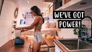 VAN LIFE'S Most Powerful OFF-GRID Electrical Setup ⚡️