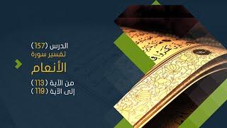 سورة الأنعام (17) تفسير من الآية 113 حتى الآية 119