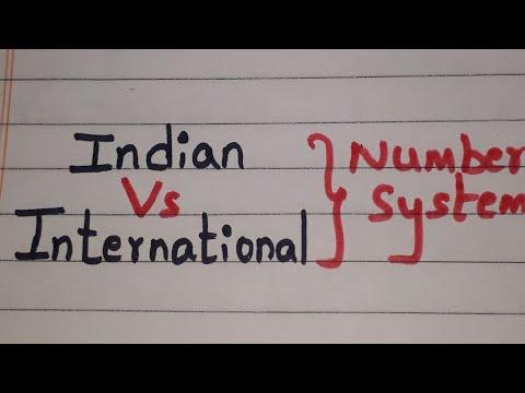 Indian number System Vs International number system