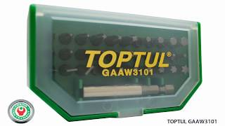 Обзор набора бит Toptul GAAW3101 на 31 предмет.