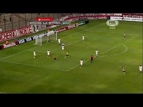 Universitario 3 - 3 The Strongest Copa Libertadores 2014