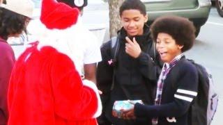 Bad Santa Christmas Prank In Real Life