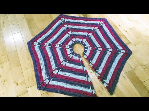 Crochet Christmas Tree Skirt Youtube