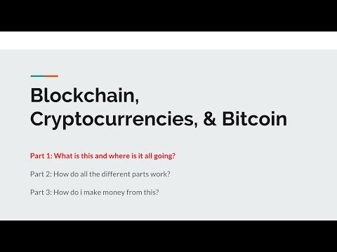 Blockchain, Crypto, & Bitcoin for Beginners - Part 1: An Introduction