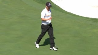 Jonas Blixt buries his birdie putt from 26 feet at DEAN & DELUCA