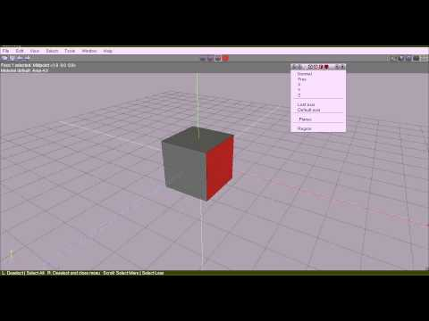 004 Wings3D: Creating hotkeys (1)
