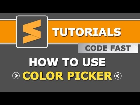 Color Picker in Sublime Text | Easy to pick any color in text editor