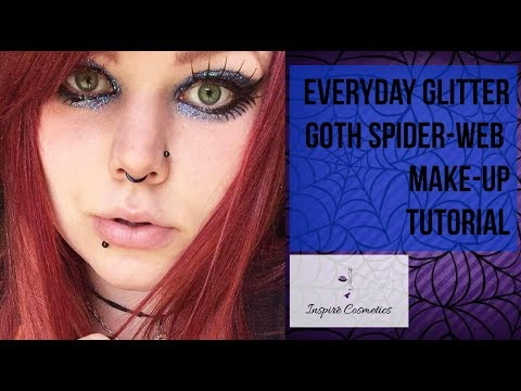 My Everyday Glitter Spider-Web Make-up - Using Inspire Cosmetics