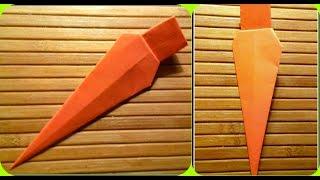Как сделать оригами морковка/морковь.Схемы оригами для детей. Детское развитие.Мастер-класс