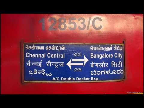 89. IRFCA: INDIAN RAILWAYS- Chennai Bangalore A/C Double Decker Express Full Journey Compilation