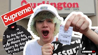 FAKE Supreme at Burlington! Crazy Fake Hypebeast HAUL