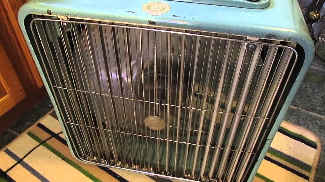 1960s Box Fan : Lasko inch oscillating vintage box fan youtube