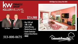 Top Realtor Listings  1626 Tollgate Ct, Lebanon, OH 45036  3 Bdr Home for Sale