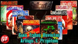 Guia / Localização de TODAS as revistas Armas & Projéteis - Fallout 4 Dicas