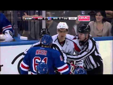 Ovechkin - Nash fight - Capitals @ NYR (12/8/13)