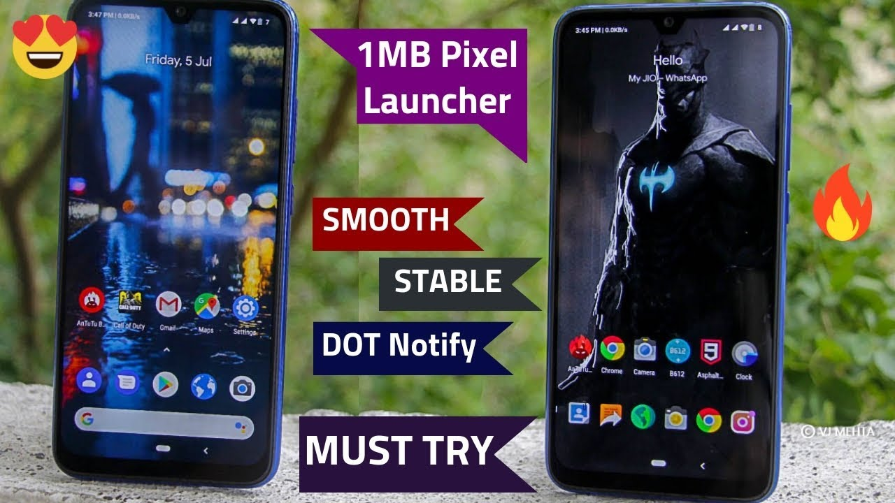[1MB] 2Jabardast🔥Launcher For Every 📱 ft MIUI 10|Pixel Launcher ft Redmi  Note7 Pro/Note 7/Realme