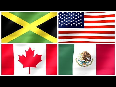 FLAGS OF NORTH AMERICA – National Flags Of North American Countries For Kids, Kindergarten