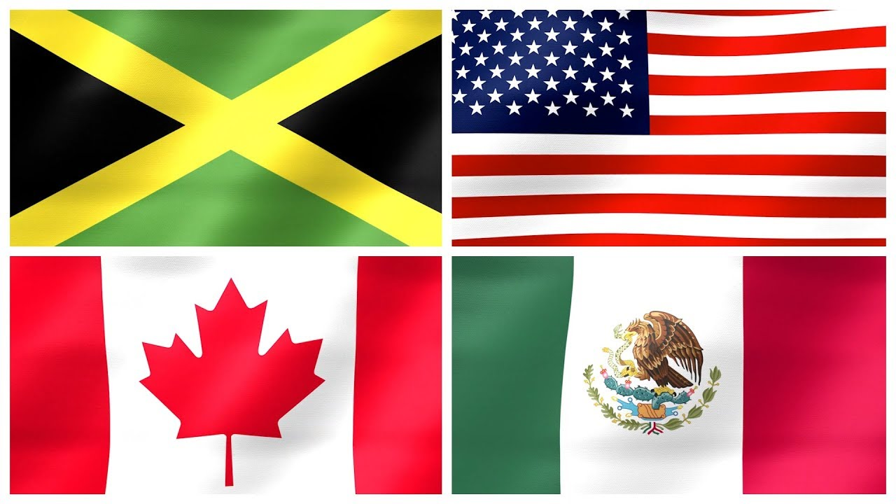 Flags Of North America National Flags Of North American Countries For Kids Kindergarten Youtube