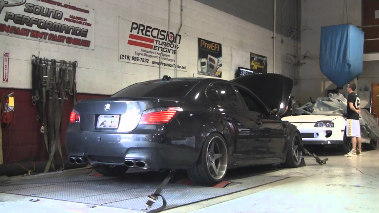 Sp Dyno 2008 Bmw M5 V10 W Vortech Supercharger Youtube