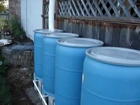 Diy Multiple Rain Barrel System How To Youtube