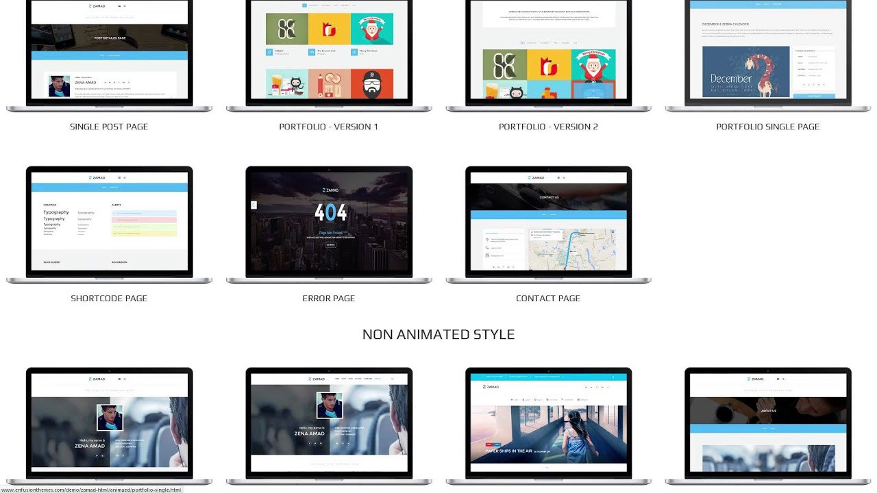 Zamad Personal Html5 Blog Template Youtube