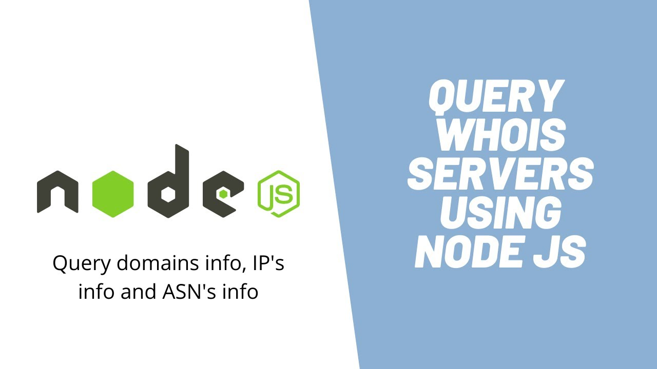 Learn How to Create WHOIS Query App using Node JS