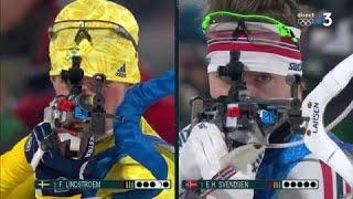 JO 2018 : Biathlon - Relais Hommes : Lindstroem fait craquer Svendsen