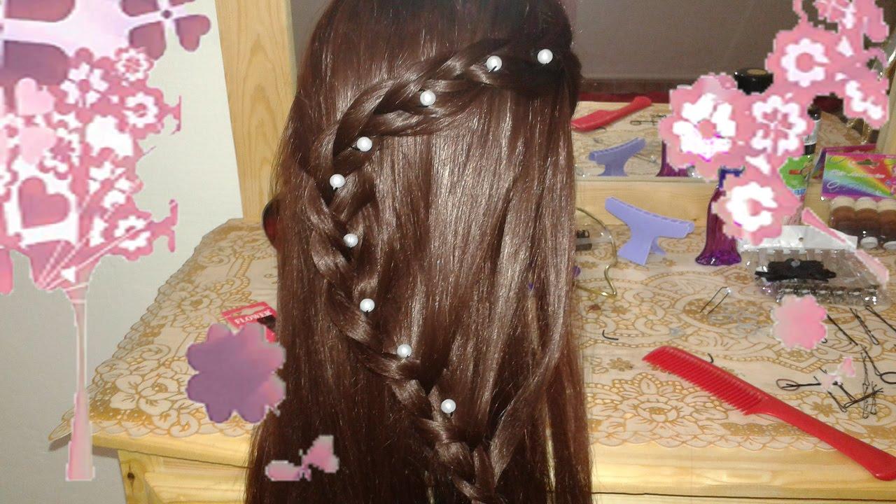 peinados nuevos rapidos y bonitos de moda con trenzas para nia en cabello largo youtube with peinados para nias con pelo largo