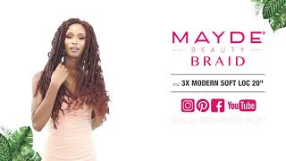 Mayde Braid 3X Modern Soft Loc 20""