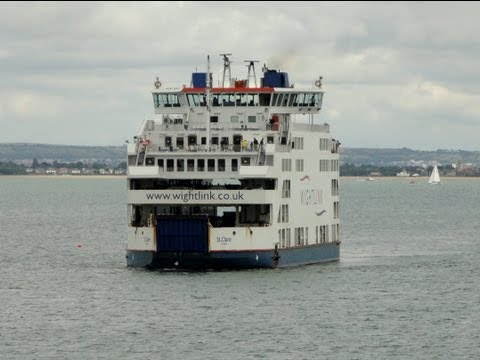 Fishbourne To Portsmouth Wightlink Ferry Crossing, 30/08/2013