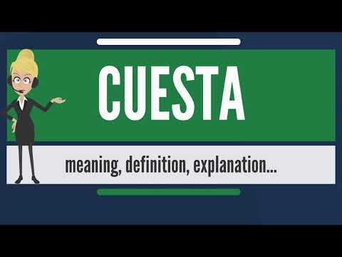 What is CUESTA? What does CUESTA mean? CUESTA meaning, definition & explanation