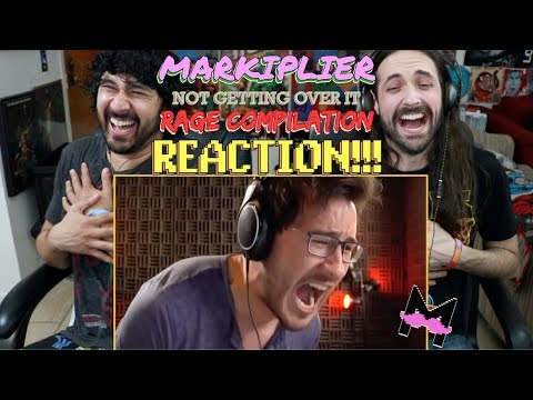 Markiplier Not Getting Over It (RAGE COMPILATION) - REACTION!!!