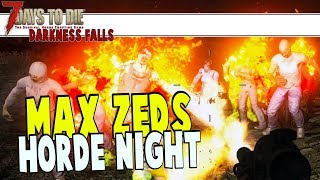 64 Zed Horde Night vs Trader | 7 Days To Die Darkness Falls | Part 17