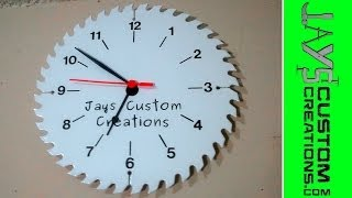 Make A Custom Saw Blade Clock - 072