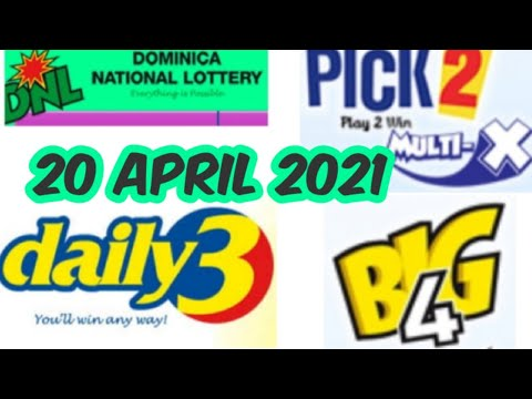 Dominica National Lottery Pick 2/Daily 3/Big 4 Best Number for ( 20 Apr. 2021 ) just try