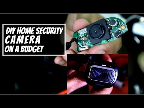 DIY Home Security Camera. Using old webcam as Security Camera!