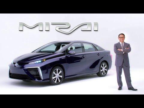 "Akio Toyoda introduces Toyota's ""Mirai"" Fuel Cell Sedan"
