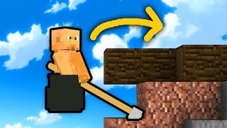 FACET W GARNKU Z MŁOTEM...? (Getting over it w Minecraft!)