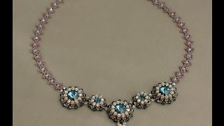 Download Video Blue Roses Necklace - Connecting the bezels and the chain P2 MP3 3GP MP4
