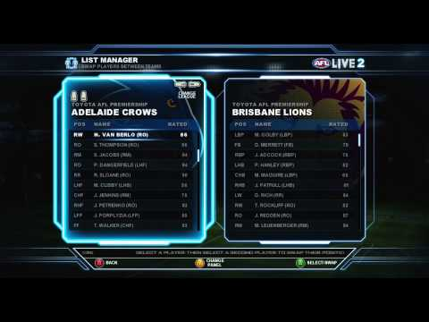 AFL Live 2 | Footy Factory Guide