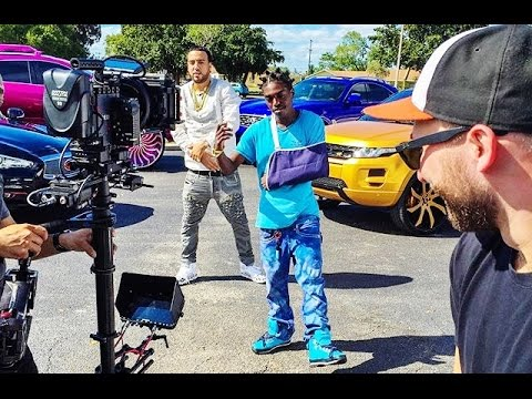 Kodak Black and Goons Bring Out The Cars For French Montana Video Shoot