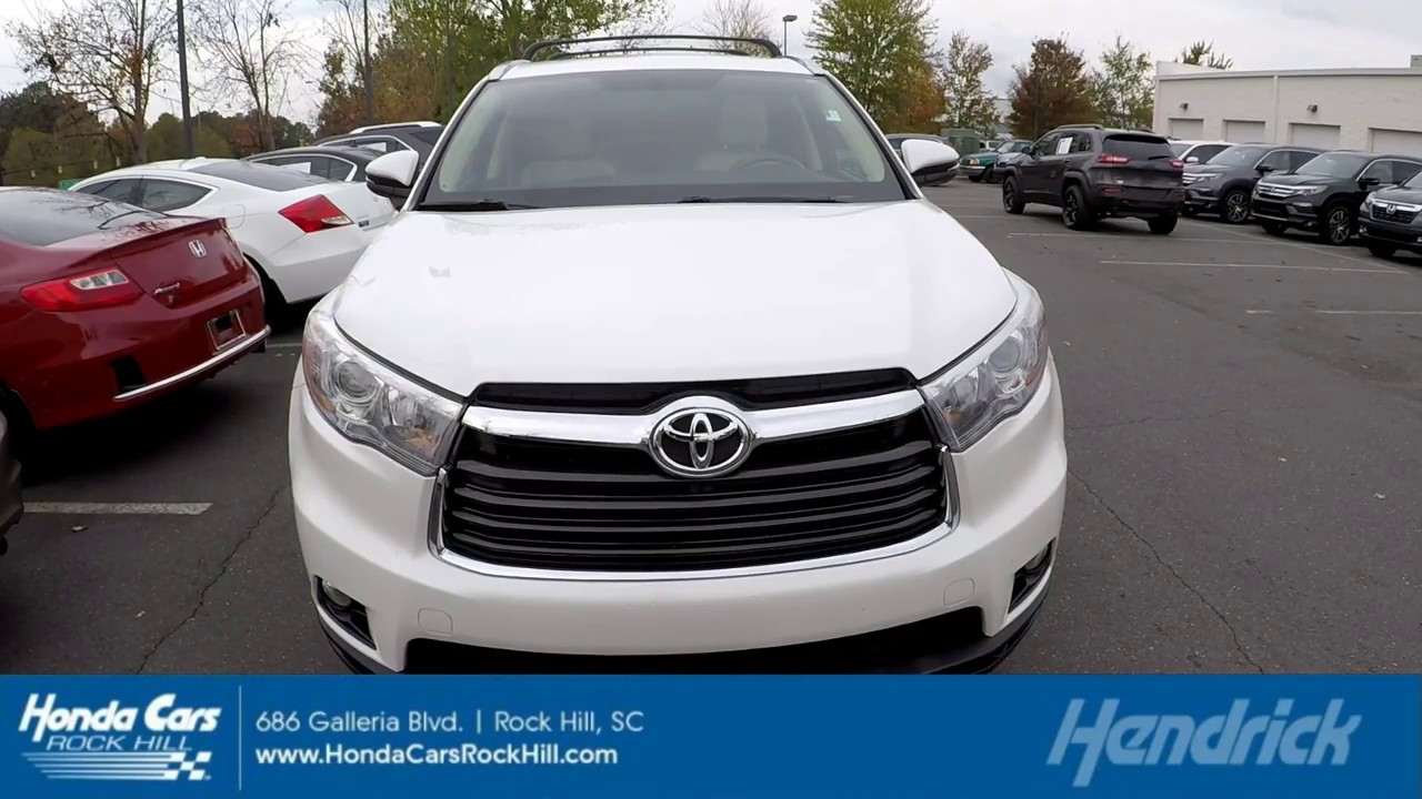 Attractive 2015 Toyota Highlander XLE 61982A. Honda Cars Of Rock Hill