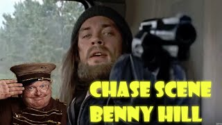 The Walking Dead - Chase Scene From s6e10 With Benny Hill Music