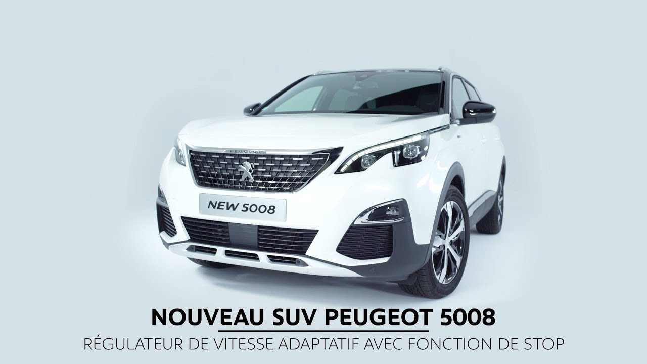 Peugeot 5008 Suv Adaptive Cruise Control With Stop Function Youtube